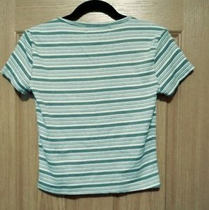 Gray striped t-shirt